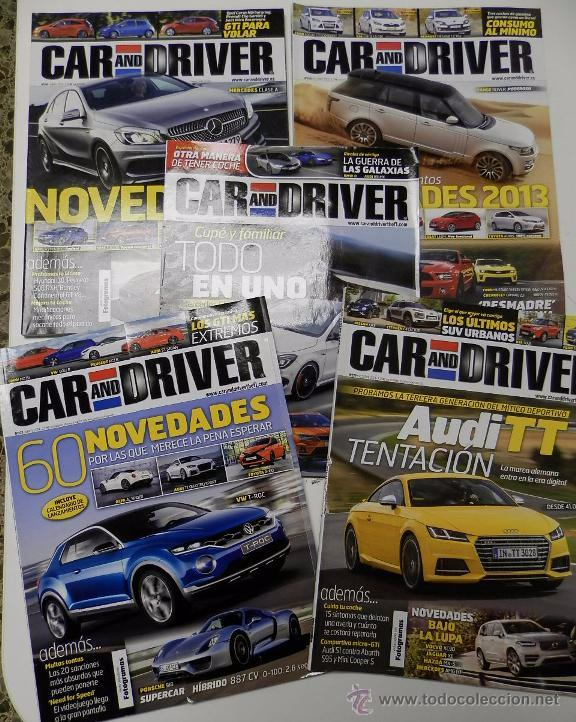5 REVISTAS CAR AND DRIVER (Coches y Motocicletas Antiguas y Clásicas - Revistas de Coches)