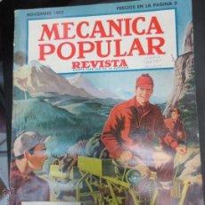 Coches: REVISTA POPULAR MECANICA NOVIEMBRE 1952. Lote 53481826
