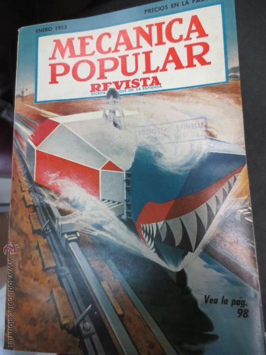 REVISTA POPULAR MECANICA ENERO 1953 (Coches y Motocicletas Antiguas y Clásicas - Revistas de Coches)