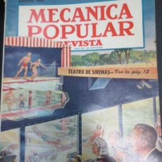 Coches: REVISTA POPULAR MECANICA AGOSTO 1952. Lote 53482154