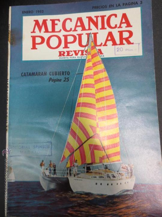 REVISTA POPULAR MECANICA ENERO 1952 (Coches y Motocicletas Antiguas y Clásicas - Revistas de Coches)