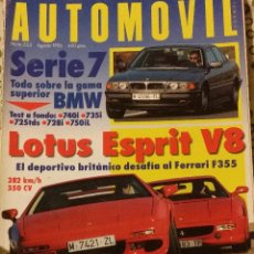 Coches: REVISTA AUTOMOVIL Nº 223 LOTUS SPIRIT PEUGEOT 306 MAXI COCHES CLASICOS FORMULA 1 RALLYES . Lote 53664388