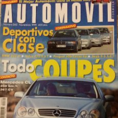 Coches: REVISTA AUTOMOVIL Nº 262 BMW VOLVO PEUGEOT MERCEDES COCHES CLASICOS FORMULA 1 RALLYE. Lote 53696178