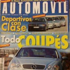 Coches: REVISTA AUTOMOVIL Nº 262 SEAT 850 COUPE MERCEDES COCHES CLASICOS FORMULA 1 RALLYE. Lote 53696197