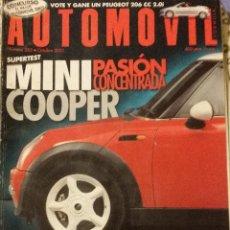 Coches: REVISTA AUTOMOVIL Nº 285 MINI COOPERSEAT AROSA FORD FIESTA COCHES CLASICOS FORMULA 1 RALLYE. Lote 53750037