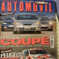 Coches: REVISTA AUTOMOVIL Nº 290 PEUGEOT 206 WRC TOYOTA CELICA OPEL ASTRA COCHES CLASICOS FORMULA 1 RALLYE. Lote 53750266