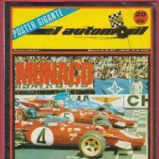 Coches: REVISTA AUTOMOVIL POSTE GIGANTE NUMERO 16 DE 1971- SABADO 29 DE MAYO. Lote 53798283
