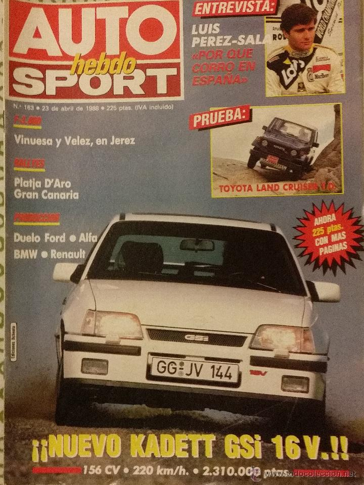 Revista Auto Hebdo Nº 163 Opel Kadett Gsitoyota Comprar Revistas