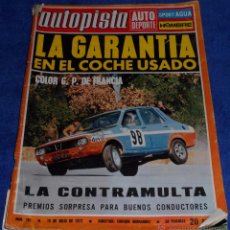 Coches: AUTOPISTA 701 - JULIO 1972. Lote 53895631
