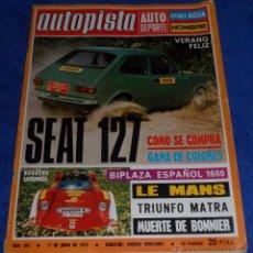 Coches: AUTOPISTA 697 - JUNIO 1972. Lote 53895645
