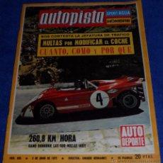 Coches: AUTOPISTA 695 - JUNIO 1972. Lote 53895652