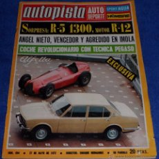 Coches: AUTOPISTA 694 - MAYO 1972. Lote 53895662