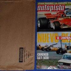 Coches: AUTOPISTA 686 - ABRIL 1972. Lote 53895682