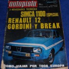 Coches: AUTOPISTA 596 - JULIO 1970. Lote 53895759
