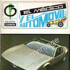 Coches: REVISTA DE 1969 Nº 2 EL MEDICO Y EL AUTOMOVIL. Lote 54324553