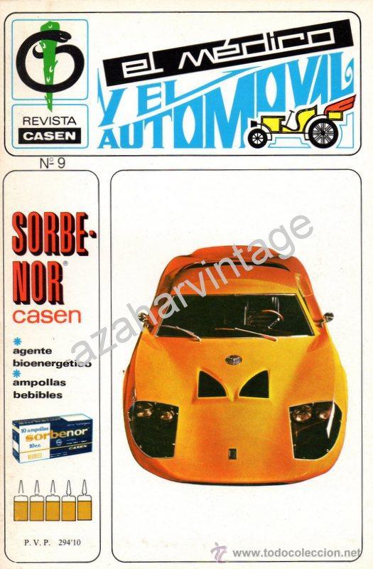 REVISTA DE 1970 NUMERO 9, EL MEDICO Y EL AUTOMOVIL (Coches y Motocicletas Antiguas y Clásicas - Revistas de Coches)