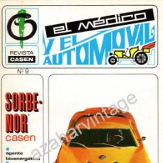 Coches: REVISTA DE 1970 NUMERO 9, EL MEDICO Y EL AUTOMOVIL. Lote 66083823