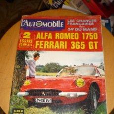 Coches: L´AUTOMOBILE Nº 266 JUNIO-JULIO 1968 GRAN FORMATO 146 PGS. Lote 54456834