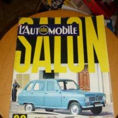 Coches: L´AUTOMOBILE ESPECIAL SALON 1968 REVISTA FRANCESA GRAN FORMATO 193 PGS. Lote 54456852