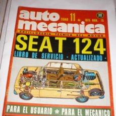 Coches: AUTOMECANICA Nº 75 SEAT 124 LIBRO DE SERVICIO AÑO 1975. Lote 54616809