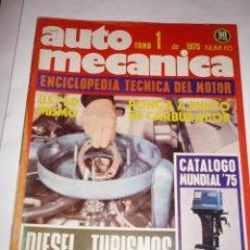 Coches: AUTOMECANICA Nº 65 PONGA A PUNTO EL CARBURADOR. Lote 95707287