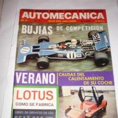 Coches: AUTOMECANICA Nº 22 BUJIAS COMPETICION LIBRO SERVICIO 850 Y 850 COUPE. Lote 54617240
