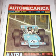 Coches: AUTOMECANICA Nº 8 AÑO 1970 MATRA EQUILIBREDO MOTOR TRANSMISION. Lote 54617378