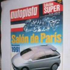 Coches: REVISTA AUTOPISTA Nº1629,4 OCTUBRE 1990,SALON DE PARIS NOVEDADES 1991,JEREZ F1,SEAT PROTO C. Lote 54631234