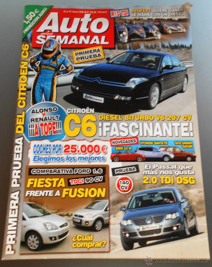 REVISTA AUTO SEMANAL (Coches y Motocicletas Antiguas y Clásicas - Revistas de Coches)