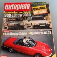 Coches: REVISTA AUTOPISTA 1985. Lote 54699597