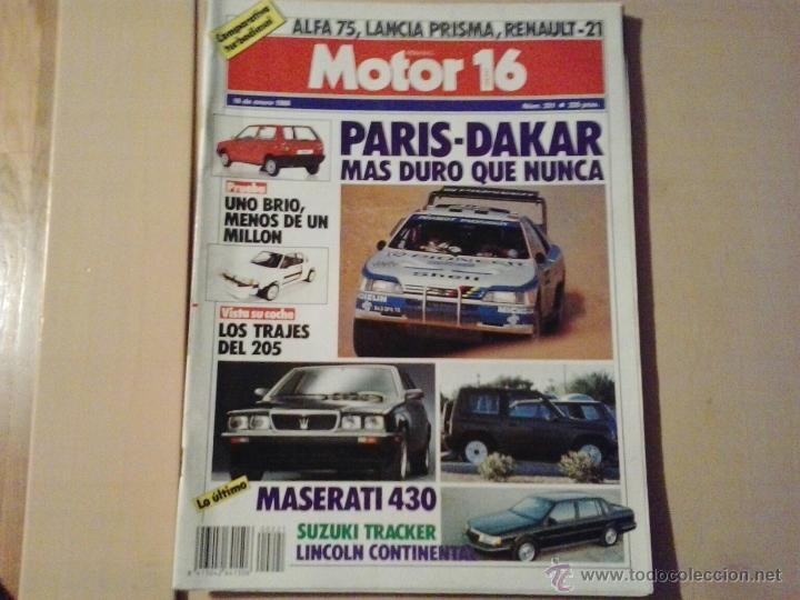 MOTOR 16 - NUMERO 221 -1988 (Coches y Motocicletas Antiguas y Clásicas - Revistas de Coches)