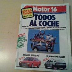 Coches: MOTOR 16 - NUMERO 192 -1987. Lote 54793346