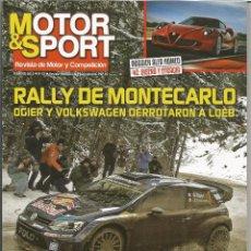 MOTOR & SPORT Nº 13, FEBRERO 2015, RALLYE MONTECARLO, ALFA ROMEO 4C, DAKAR 2015, ALFA ROMEO SPORT