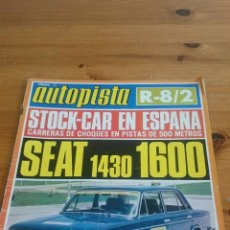 Coches: AUTOPISTA N. 745 PRUEBA SEAT 1430 ESPECIAL 1600 FU RENAULT R8 RESTYLING POSTER FACEL II. Lote 54842717
