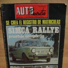 auto revista nº 1002 - año 1976 - simca rallye - registro de matriculas