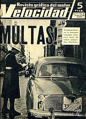VELOCIDAD 70 ENERO 1963 (Coches y Motocicletas Antiguas y Clásicas - Revistas de Coches)