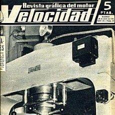 Carros: VELOCIDAD 84 ABRIL 1963. Lote 55146037