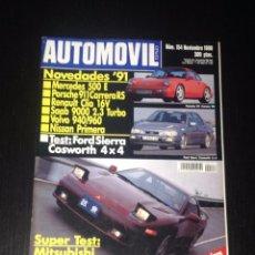 Coches: REVISTA AUTOMOVIL Nº 154 - FORD SIERRA COSWORTH MISUBISHI 3000 GT VR4 PORSCHE 911 CARRERA RS CLIO 16. Lote 55244719