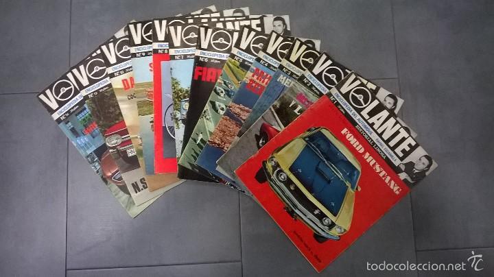 VOLANTE, ENCICLOPEDIA DEL AUTOMÓVIL-RAFAEL ESCAMILLA, NÚMEROS DEL 1 AL 10, 12 Y 14 (1969) (Coches y Motocicletas Antiguas y Clásicas - Revistas de Coches)