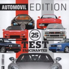 Coches: AUTOMOVIL EDITION N. 1 - 25 TEST FASCINANTES (NUEVA). Lote 113056051
