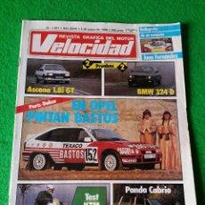 Coches: REVISTA GRAFICA DEL MOTOR VELOCIDAD NUMERO 1267 AÑO 1986. Lote 56348040