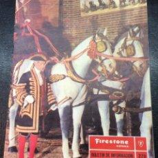 Coches: FIRESTONE. BOLETÍN INFORMACIÓN N 279. FEBRERO 1977. Lote 56388273