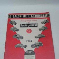 Coches: LE SALON DE L´AUTOMOBILE, AÑO 1952, TIENE 80 PAG, MIDE 31 X 23,5 CMS, MUCHISMAS FOTOGRAFIAS.. Lote 56420873