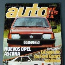 Coches: REVISTA AUTO Nº 1246 AGOSTO 1981 . Lote 56570817