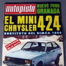 Coches: REVISTA AUTOPISTA Nº 956 JUNIO 1977 MINI CHRYSLER 424. Lote 56613533