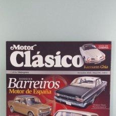 Coches: REVISTA MOTOR CLÁSICO 274 NOVIEMBRE 2010 DOSSIER BARREIROS / GUÍA KARMANN. Lote 56673921