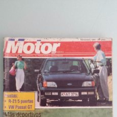 Coches: REVISTA MOTOR MUNDIAL 522 NOVIEMBRE 1989 BMW 318 IS - FIESTA XR2I - TIPO 16V - CITROEN BX 4X4 . Lote 56806652