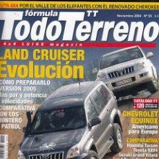 Coches: REVISTA TODO TERRENO Nº 55 AÑO 2004. COMPARATIVA: NISSAN PATROL 3.0 DI, MITSUBISHI MONTERO 3.2 DI-D. Lote 56828733