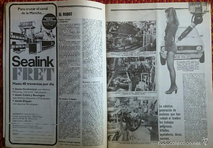 Coches: Auto Revista nº 1249, 19 septiembre 1981. Renault 18 GTD, Robots, Alcoholemia, Gran Premio de Italia - Foto 3 - 56938901
