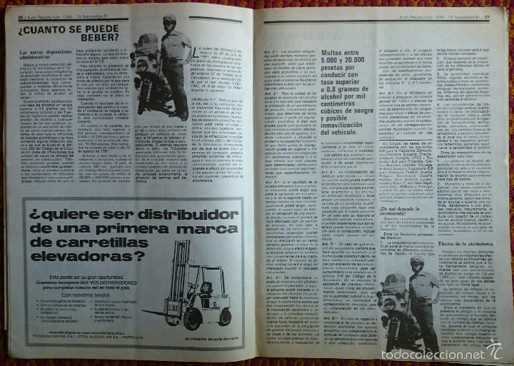 Coches: Auto Revista nº 1249, 19 septiembre 1981. Renault 18 GTD, Robots, Alcoholemia, Gran Premio de Italia - Foto 4 - 56938901